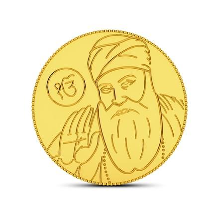 4gm, 24Kt Guru Nanak Gold Coin