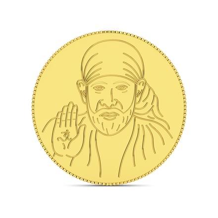 4gm, 24Kt Shirdi Sai Baba Gold Coin