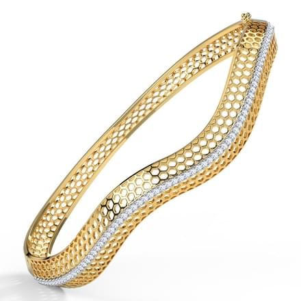 Bina Deep Waved Bangle