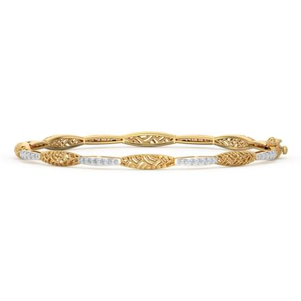 Ornate Diamond Bangle