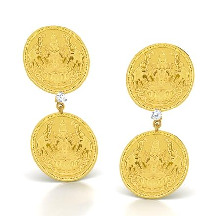 Lakshmi Coin Earrings
