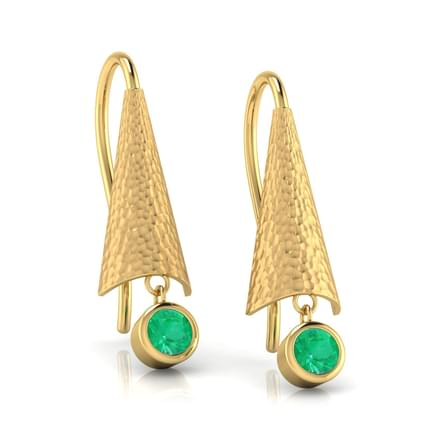 Umbrella Emerald Drop Earrings