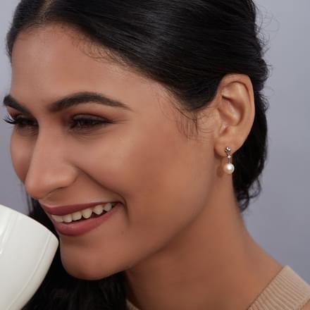 Simple Pearl Drop Earrings Jewellery India Online ...