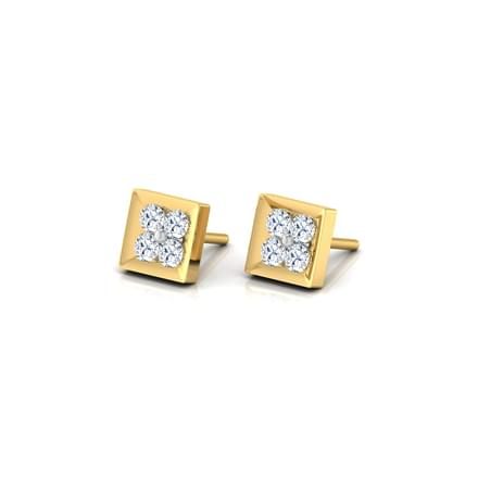 4-Stone Stud Earrings