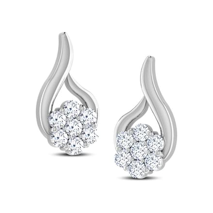 Threaded Flower Diamond Earrings