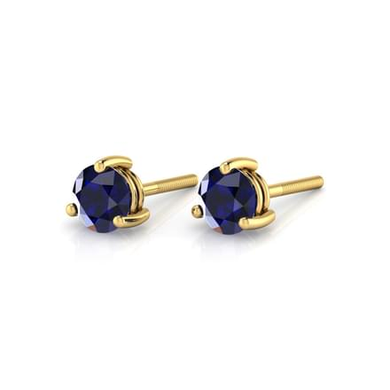 Simple Sapphire Earrings