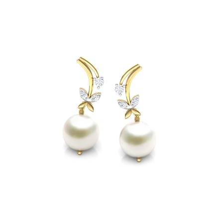 Winter Blossom Pearl earrings