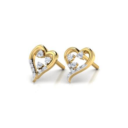 Bejewelled Heart Earrings