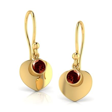 Sweetheart Garnet Earrings