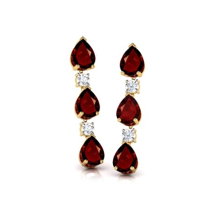 Hamesha Garnet Drop Earrings