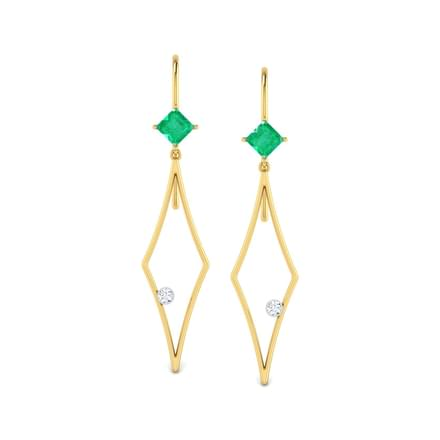 Charming Emerald Drop Earrings