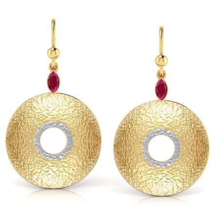Open-disc Drop Earrings