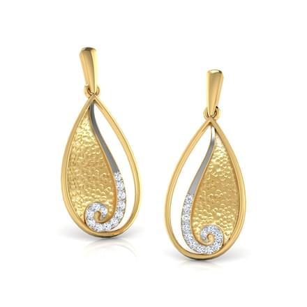 Duo-Tone Pear Earrings