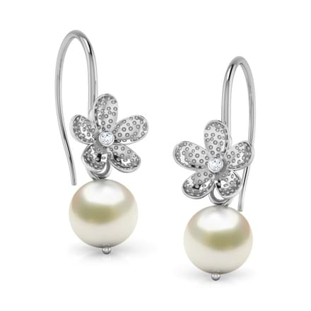 Floral Pearl Drop Earrings