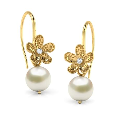 Floral Pearl Drop Earrings Jewellery India Online