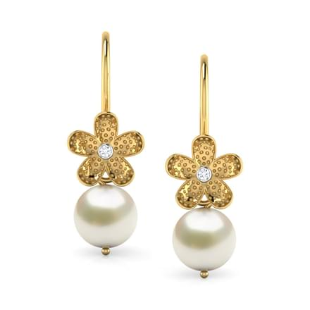 earrings earring anjali gold finish polki online moti pearl long and jewelry