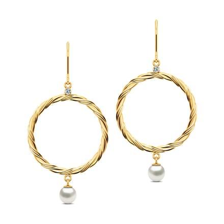 Loop and Pearl Earrings