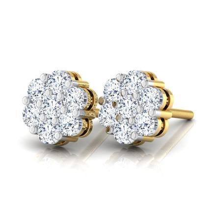 Classic Seven-Stone Diamond Studs.