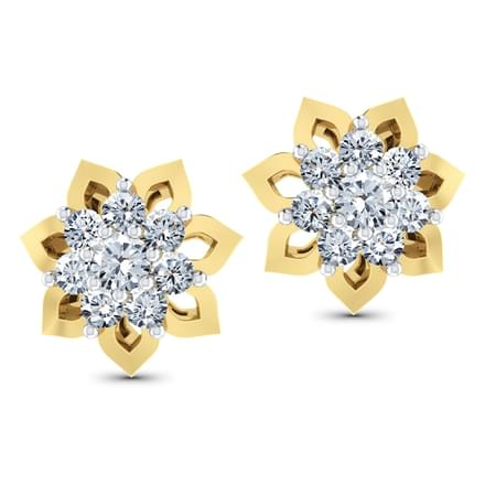 Eight-Stone Cluster Diamond Earrings.
