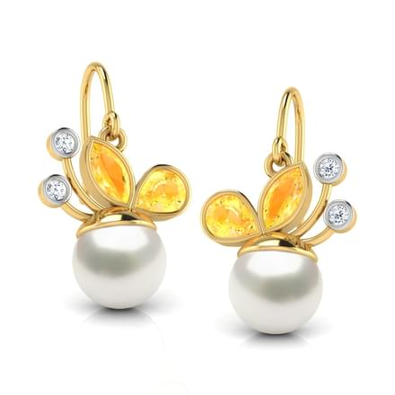 Berry Drop Diamond & Citrine Earrings