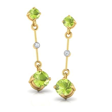 Metro Diamond & Peridot  Drops