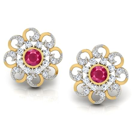 Surya Floral Stud Earrings