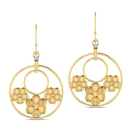 Triple Flower Earrings