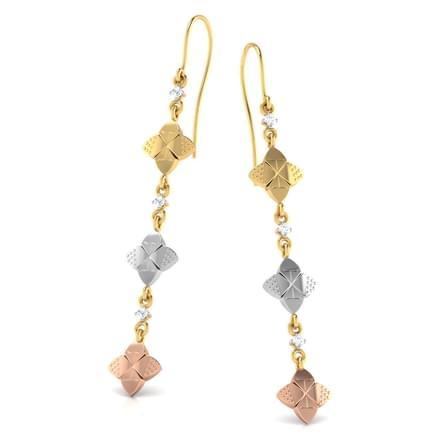 Tri-tone Floral Earrings