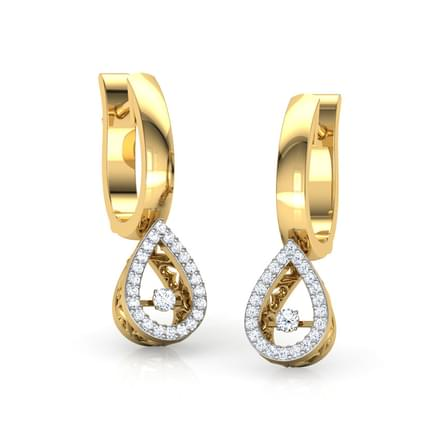 Adele Heartbeat Diamond Drop Earrings