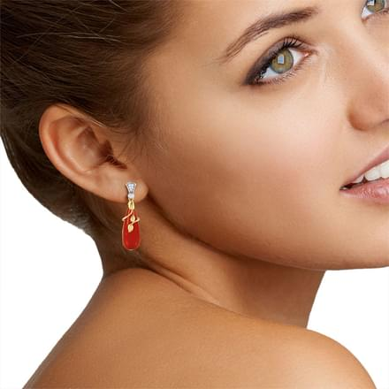 Coral Drop Earrings