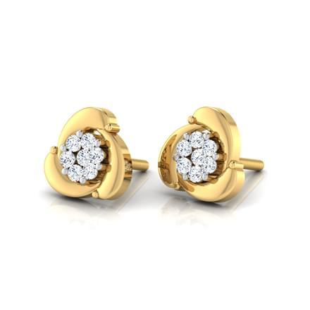 Fan Cluster Stud Earrings