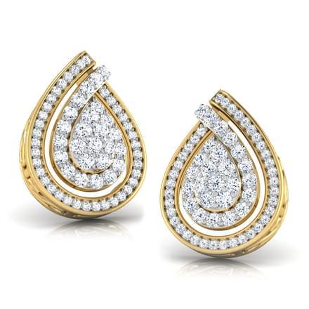 Twisted Pear Stud Earrings