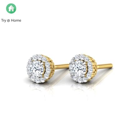 Naksha Halo Stud Earrings