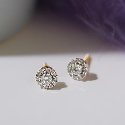 Naksha Halo Stud Earrings Jewellery India Online