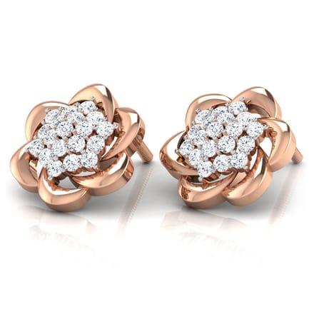 Magnolia Cluster Stud Earrings