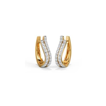 Wave Hoop Earrings Jewellery India Online Caratlane Com