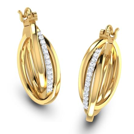 Curlique Hoop Earrings