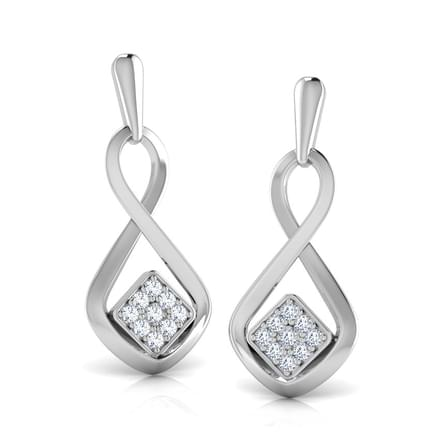 Infinity Square Earrings