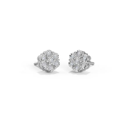 Rowena Seven Stone Miracle Plate Stud Earrings