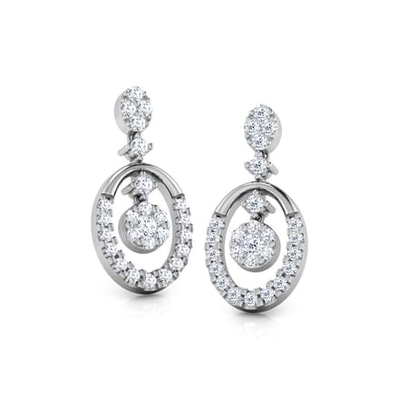 Oval Pendulum Diamond Drop Earrings
