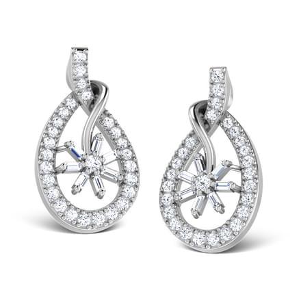 Floral Poire Stud Earrings