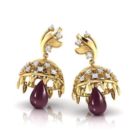 Golden Bouquet Drop Jhumkas