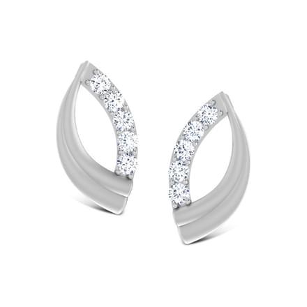 Snuggle Platinum Stud Earring