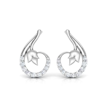 Hug Platinum Stud Earrings