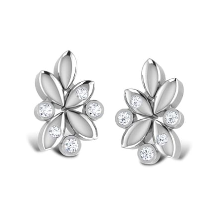 Pledge Platinum Stud Earrings