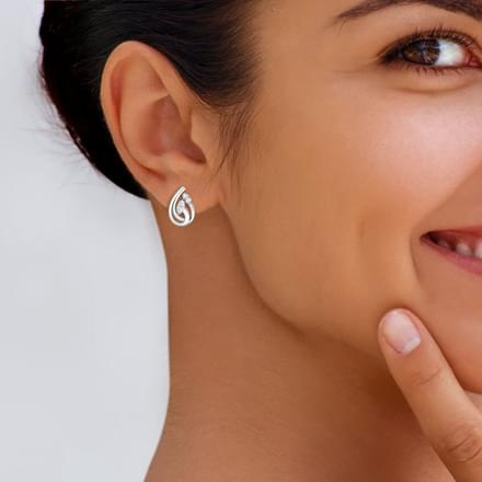 Embrace Platinum Stud Earrings
