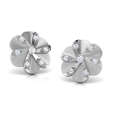 Tulip Platinum Earrings