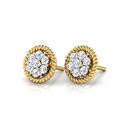 Rope Circle Stud Earrings