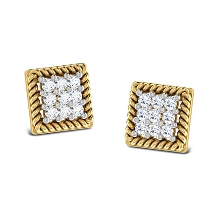 Rope Square Stud Earrings