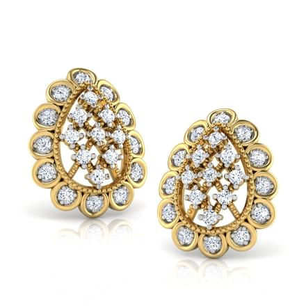 Elegant Pear Stud Earrings